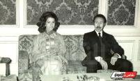 Le président Houari Boumediene et sa femme Anissa Boumediene portant un caftan des années 1970. (© magazine.echoroukonline.com)