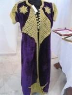 Caftan long en velours de Gênes du XVIIIe siècle provenant de la ville d'Annaba. (©Association Arrawnek El-Annabi)