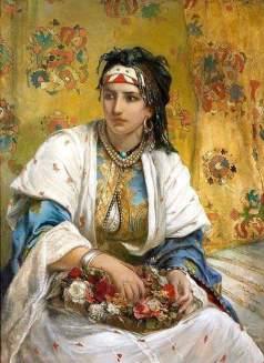 La vendeuse de fleur algérienne par Jean Francois Portaels.