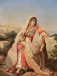 Femme d'Alger aux perles.