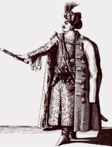 Le sultan Hadj Hussein avec son caftan(1683).