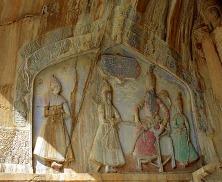 Noblesse sassanide en caftan, IIIe siècle.