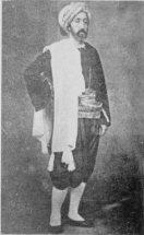 Ernest Feydeau en costume typiquement algérien portant le hzem, XIXe siècle.