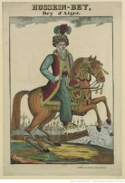 Hussein Pacha, dey d'Alger en jabador, 1830.