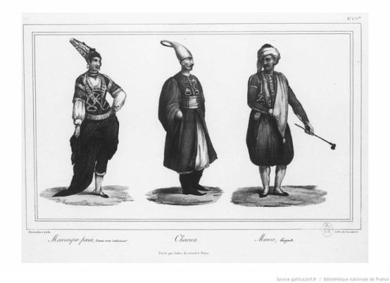 Chaoux portant le jadabor, XVIIIe siècle.