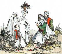 Deux femmes algériennes en haïk en 1830.