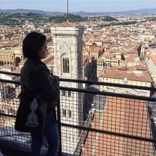 Sac KAY porté à Florence, Italie.